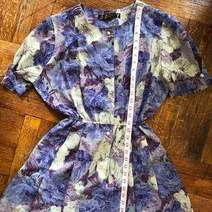 Vintage flower Lilac dress.